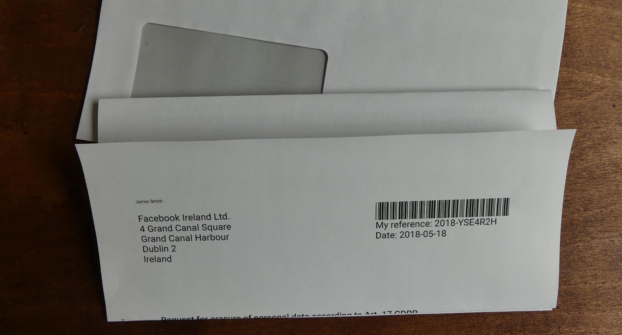 Modelo de carta para solicitudes de supresión según Art. 17 del RGPD